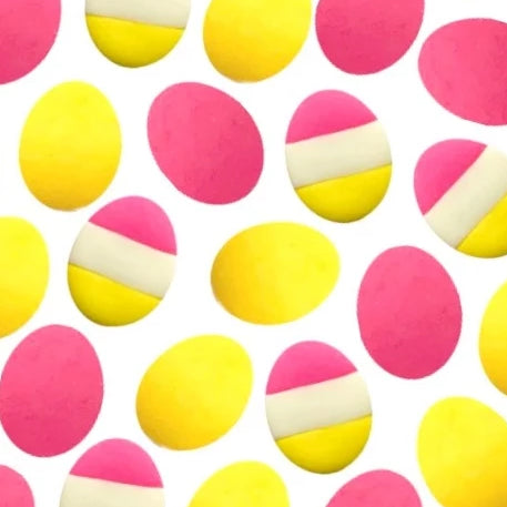 Easter eggs yellow & pink mini marzipan candy bites