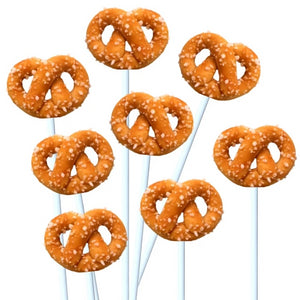 pretzels marzipan candy lollipops