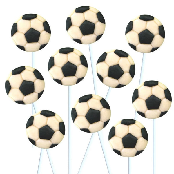 soccer marzipan candy lollipops
