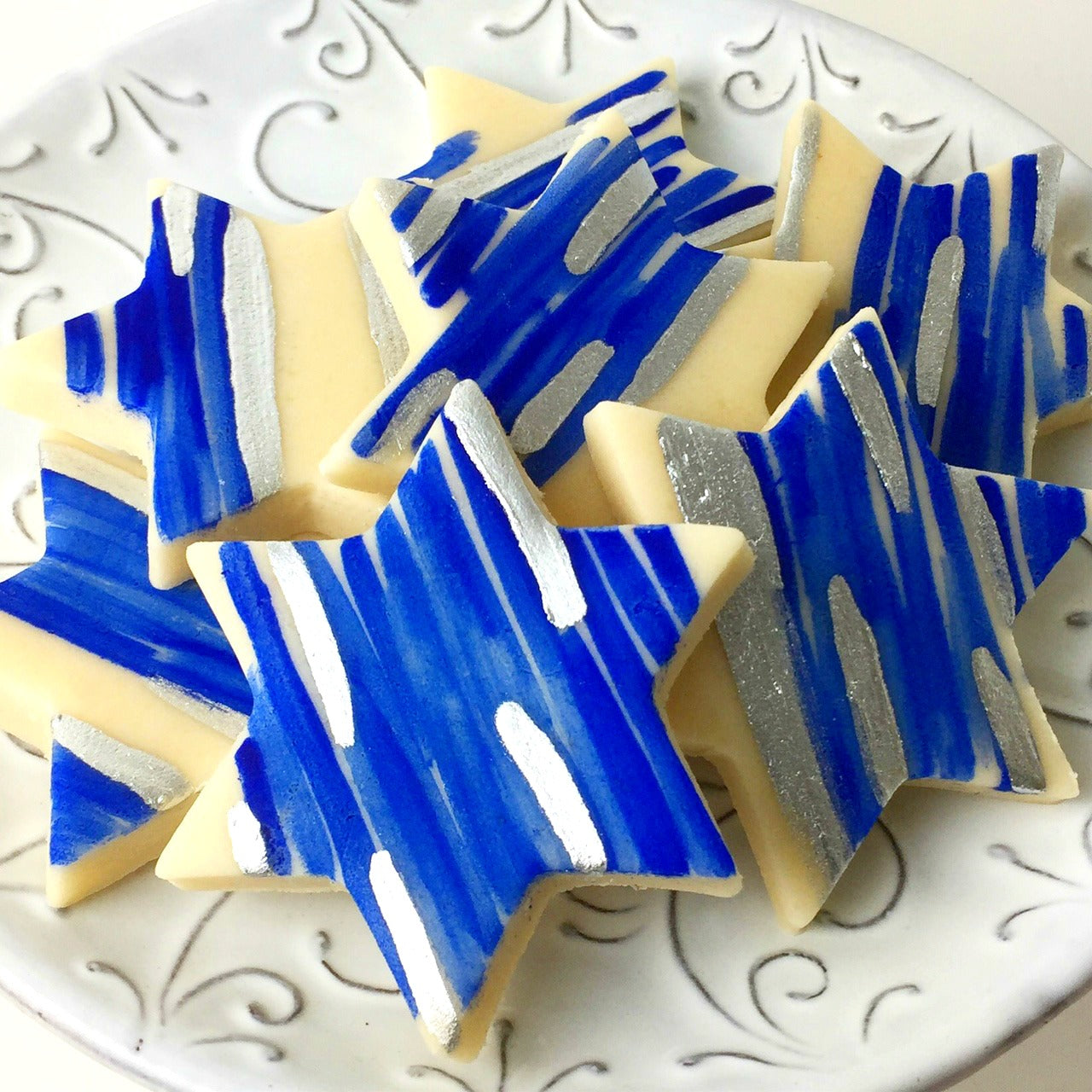 star of David Hanukkah marzipan candy tiles gift