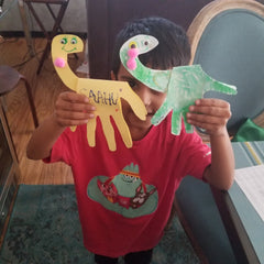 dinosaur hand crafts