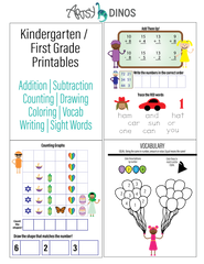 First grade worksheets kindergarten free printables