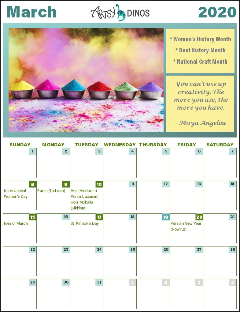 March cultural holidays