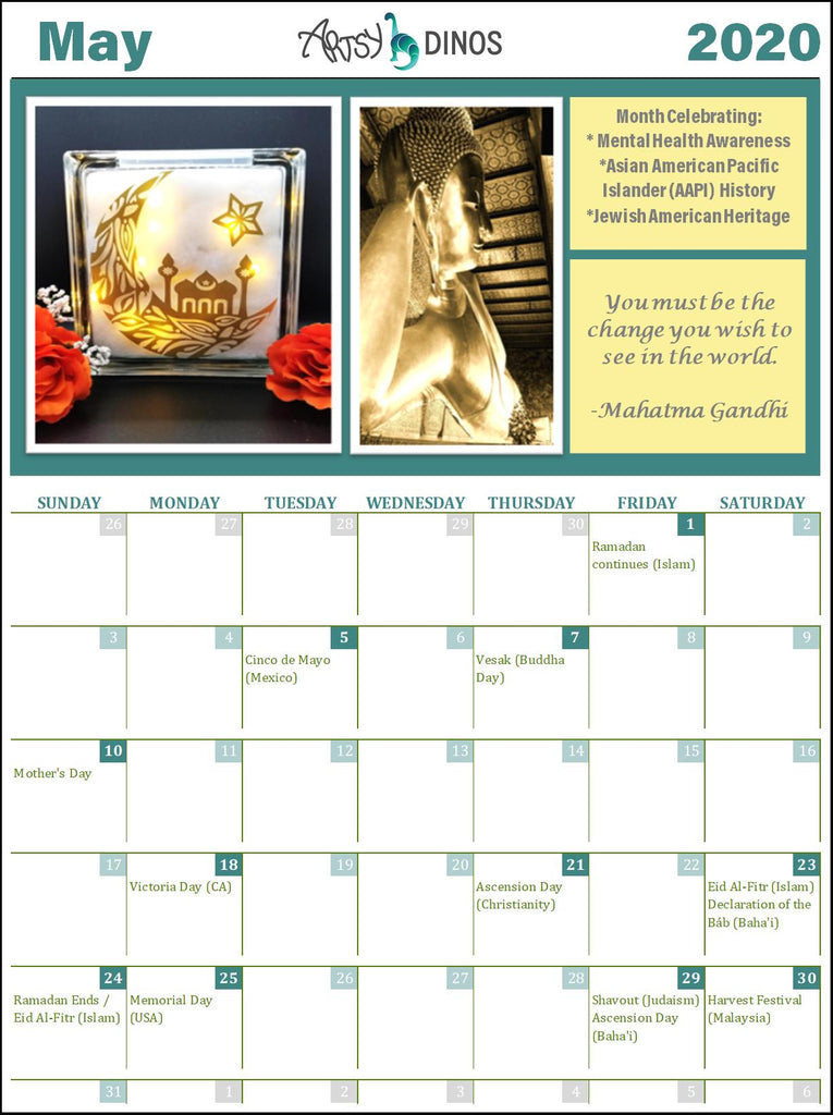 May Calendar of International Holidays