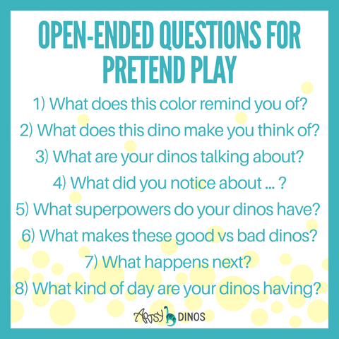 Open-ended questions for pretend play