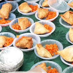 Sweets and samosas