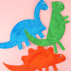 paper plate dinosaur crafts, easy dinosaur crafts for kids