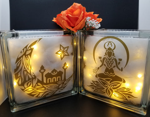 Religious decorative glass blocks