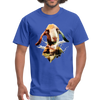 Goat t-shirt - Animal Face T-Shirt - royal blue