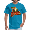 Frog t-shirt - Animal Face T-Shirt - turquoise