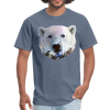 Polar bear t-shirt - Animal Face T-Shirt - denim
