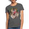 Mandrill Monkey Women's T-Shirt - charcoal