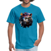 Black panther t-shirt - Animal Face T-Shirt - turquoise
