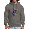 Flying Hummingbird Men's Hoodie - asphalt gray