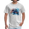 Dolphin t-shirt - Animal Face T-Shirt - heather gray
