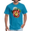 Watercolor tiger t-shirt - turquoise