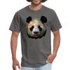 Panda t-shirt - Animal Face T-Shirt - charcoal