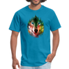 Colorful wolf t-shirt - turquoise