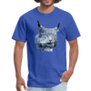 Nothern Lynx t-shirt - Animal Face T-Shirt - royal blue