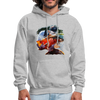 River trout hoodie - Animal Face Hoodie - heather gray