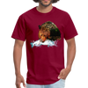 Grizzly eating t-shirt - Animal Face T-Shirt - burgundy