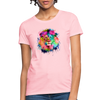 Lion with mane Women's T-Shirt - pink