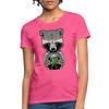 Racoon Women's T-Shirt - heather pink