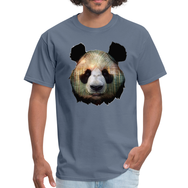 Panda t-shirt - Animal Face T-Shirt - denim