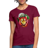 Watercolor Tiger Women's T-Shirt - burgundy