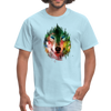 Colorful wolf t-shirt - powder blue