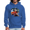 River trout hoodie - Animal Face Hoodie - royal blue