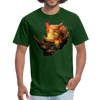 Rhinoceros t-shirt - Animal Face T-Shirt - forest green