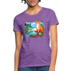 Fox with river Women's T-Shirt - purple heather