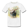 Moose Kid's Premium Organic T-Shirt - white