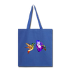 Hummingbird Tote Bag - royal blue