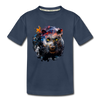 Black panther Kid's Premium Organic T-Shirt - navy