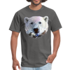 Polar bear t-shirt - Animal Face T-Shirt - charcoal