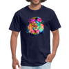 Lion with mane t-shirt - Animal Face T-Shirt - navy