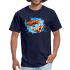 Swimming Koi Men's T-Shirt - navy