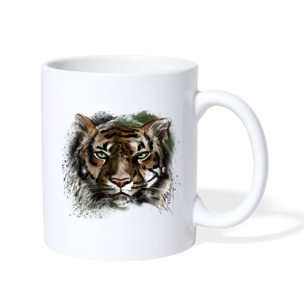 Tiger Coffee/Tea Mug - white