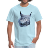 Nothern Lynx t-shirt - Animal Face T-Shirt - powder blue