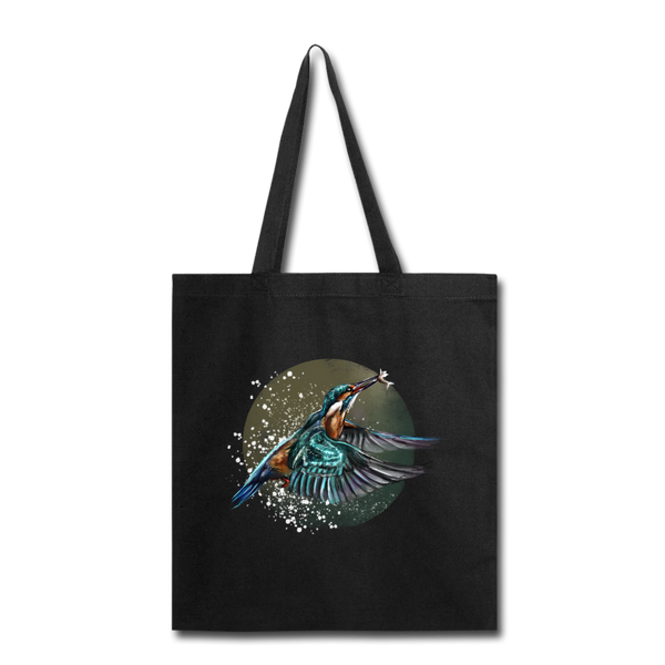 King fisher Tote Bag - black