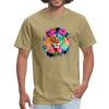 Lion with mane t-shirt - Animal Face T-Shirt - khaki
