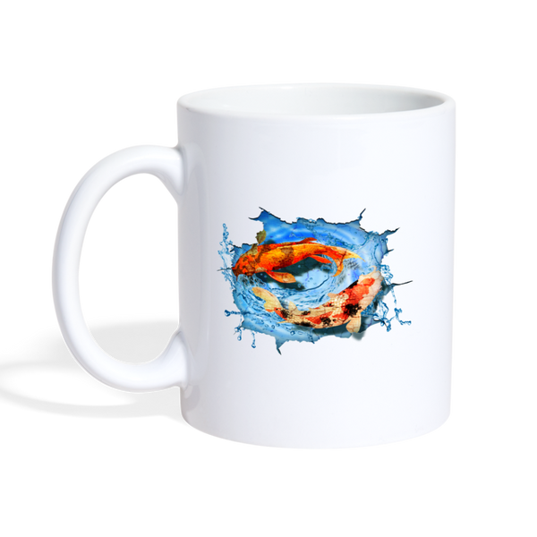 Swimming Koi Coffee/Tea Mug - white