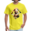 Goat t-shirt - Animal Face T-Shirt - yellow
