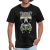 Racoon Men's T-Shirt - black