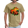 Striking tree snake t-shirt - Animal Face T-Shirt - khaki