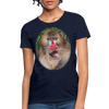 Mandrill Monkey Women's T-Shirt - navy