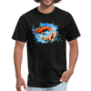Swimming Koi Men's T-Shirt - black
