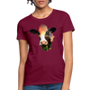 Holstein cow Women's T-Shirt - burgundy
